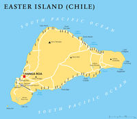 Easter Island Political Map