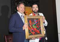 Designer Harald Glööckler presents his painting