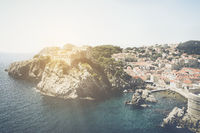Dubrovnik Croatia with Vintage Instagram Style Filter