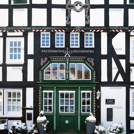 timber-framed house in Saalhausen, Germany, North Rhine-Westphalia, Sauerland, Lennestadt