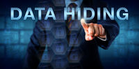 Adversary Pressing DATA HIDING Onscreen