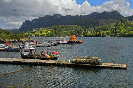 Fishing port at Plockton at Loch Carron, Scotland, Great Britain