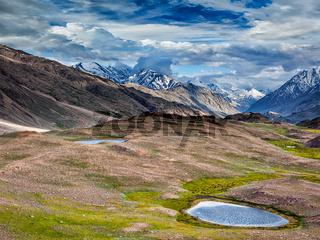 Small lake in Himalayas