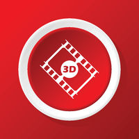 3D film icon on red