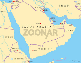 Arabische Halbinsel Landkarte