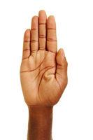 Handfläche von Hand eines Afrikaners