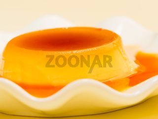 golden rich creme caramel dessert