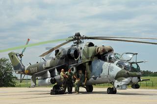 Berlin Air-Show ILA mit russischem Kampfhubschrauber MIL MI-24
