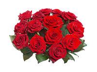 Bouquet of Fifteen Purple Roses cutout