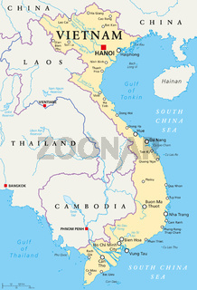 Vietnam politische Landkarte