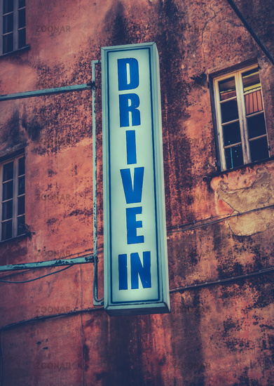 Drive-In Movie Theatre Sign