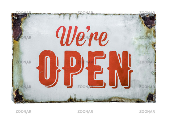 Vintage Store Open Sign