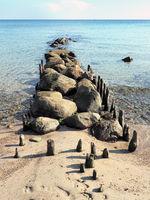 Groyne At The Baltic Sea Beach