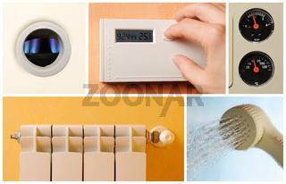 central heating set photos