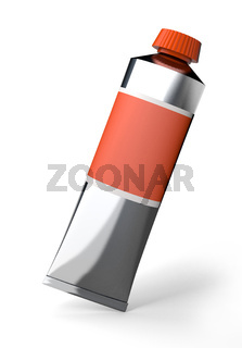Tube of a paint isolated on white
