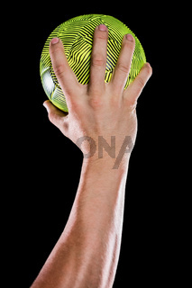 Sportsman holding a ball