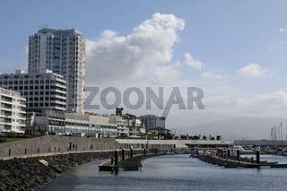 Ponta Delgada, waterfront and harbour, Azores