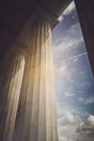 Pillars with Vintage Instagram Style Filter