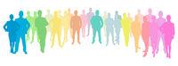 Geschäftsleute Gruppe als Silhouette