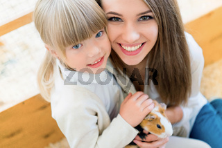 Family with cavy