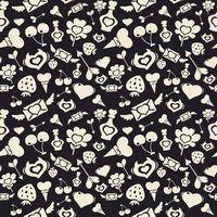 Sweet Valentine Pattern Dark
