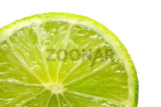 Fresh lime isolated on white background. Close-up