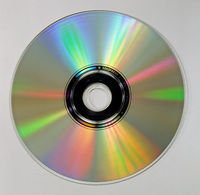 unlabeled CD, DVD