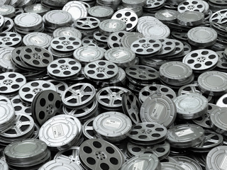 Movie video reels background. Films collection.