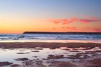 Varicolored ocean sunset, Portugal