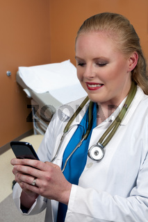 Woman Doctor Texting