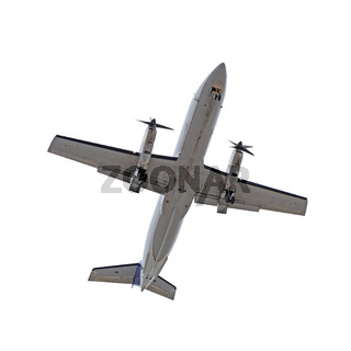 Bottom of aircraft isolated on white
