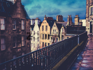 Retro Old Town Edinburgh Buildings