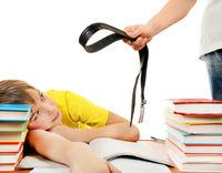 Parent threaten Son with a Belt