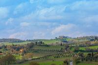 Landscape of san quirico de orcia tuscany