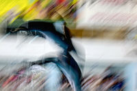 Dolphins jumping blur