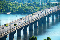 Paton bridge. Kyiv, Ukraine