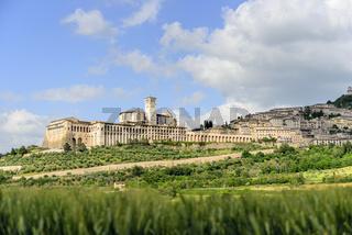 Cityscape Assisi basilica and monastery
