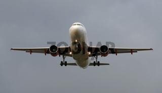 Airbus im Landeanflug