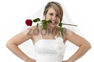 Braut mit einer Rose