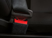 Closeup of details of the car safety or seat belt
