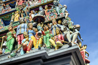 Sri Mariamman Hindu Temple in Singapore.