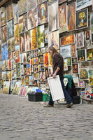Paintings for sale at the Florianska Gate Cracow