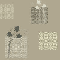 Seamless with  squares and roses