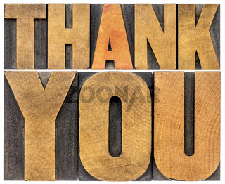 thank you wood type abstract