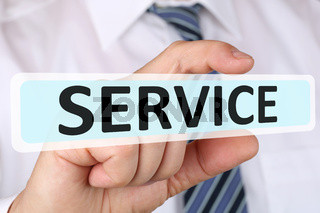 Business man Konzept mit Service Kundenservice Dienstleistung