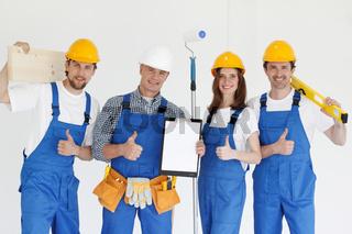 team of workmen