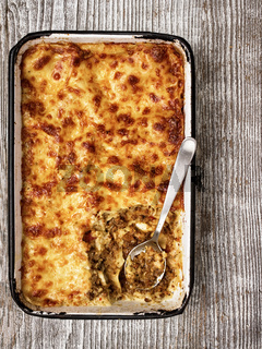 rustic italian baked lasagna