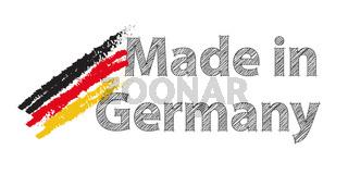 Made in Germany mit Deutschlandfarben