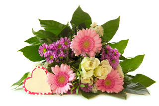 Colorful flowers bouquet isolated.