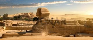 Sphinx in desert